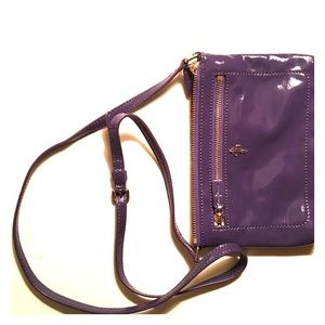 Cole Haan patent leather cross body in purple